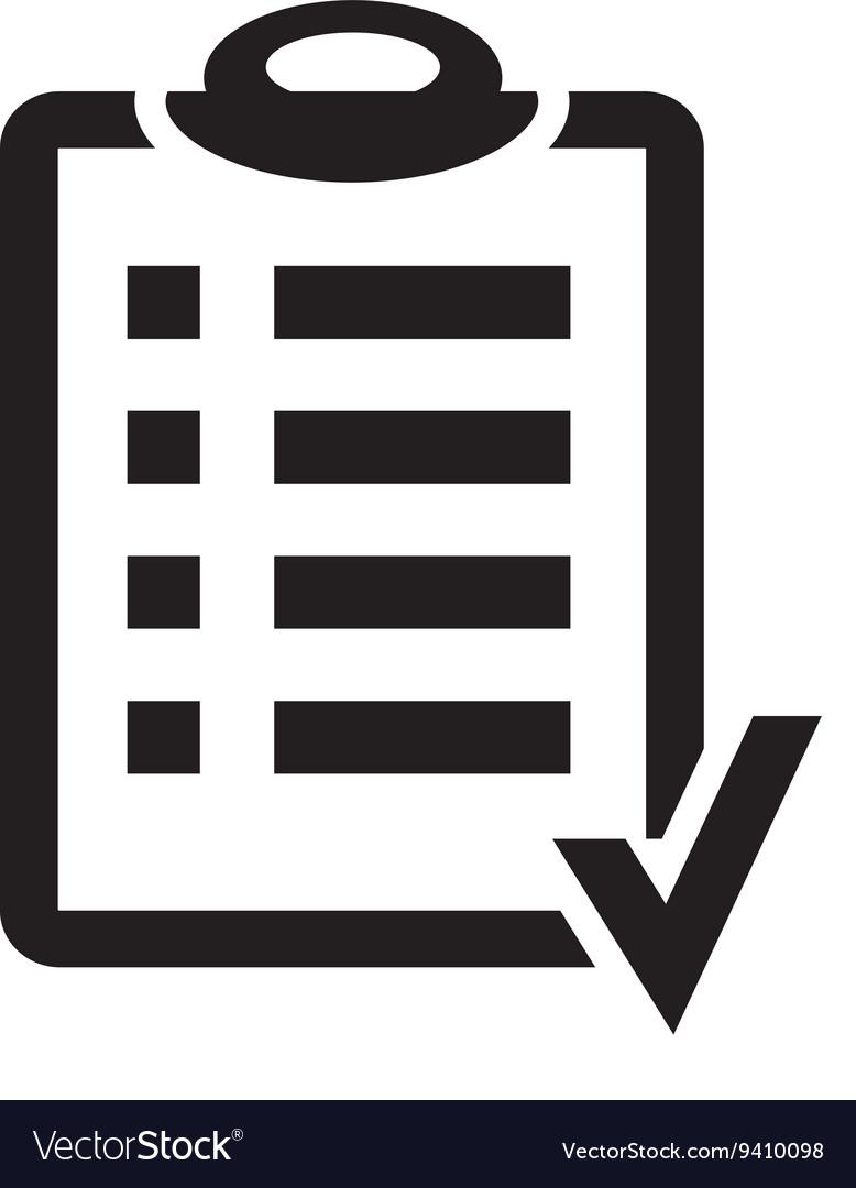 action plan clipboard icon design over a white vector image