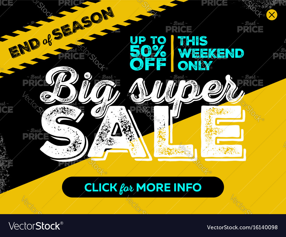 Big super sale banner design