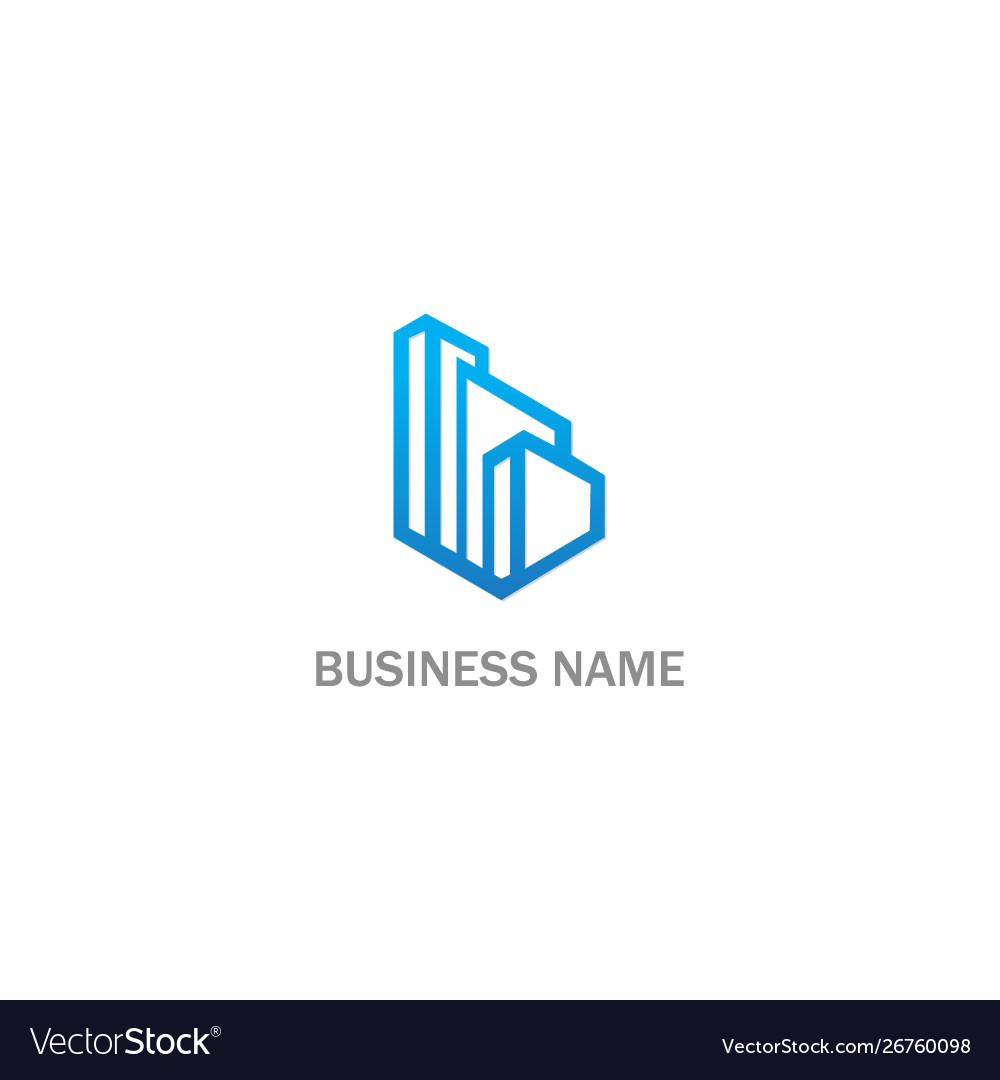 Building line cityscape logo