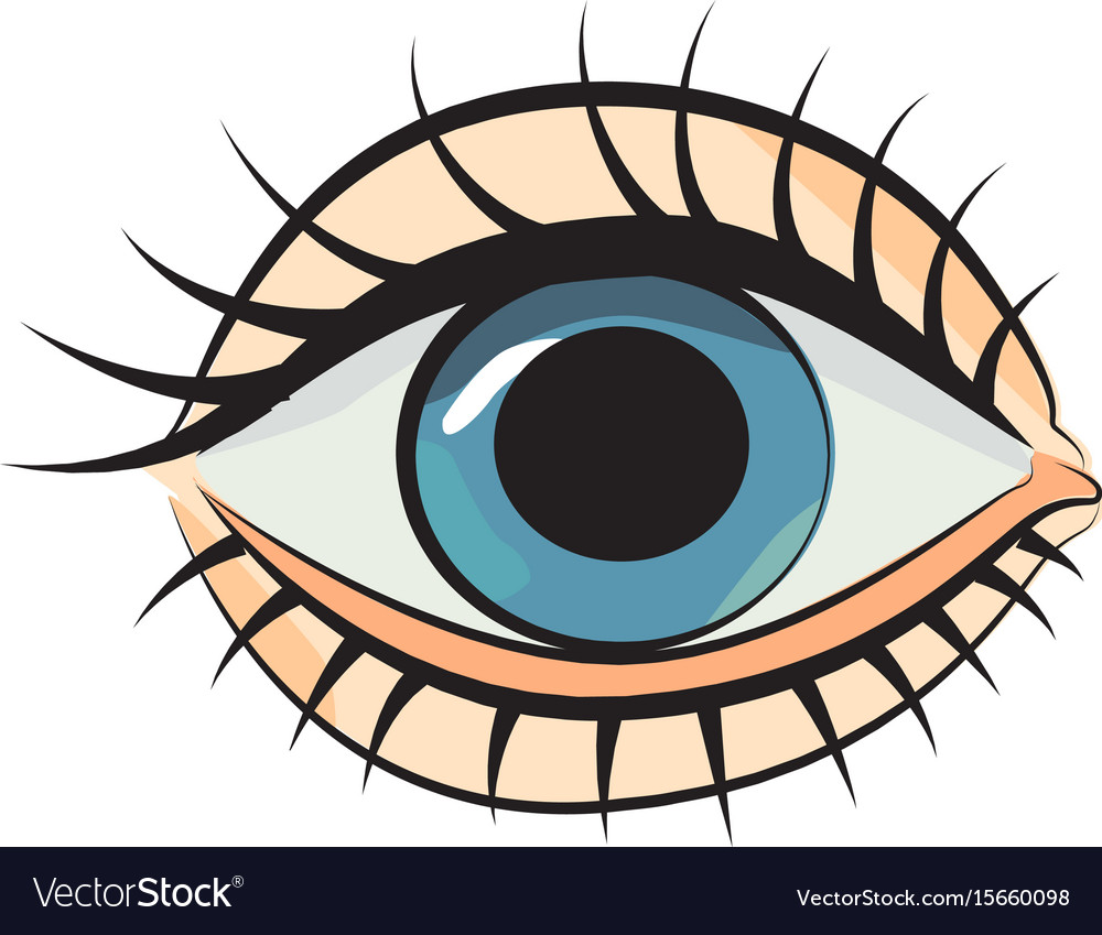 Cartoon image of eye