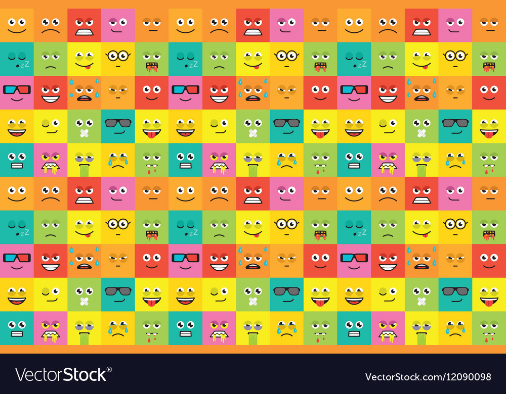 Colorful emotions seamless pattern