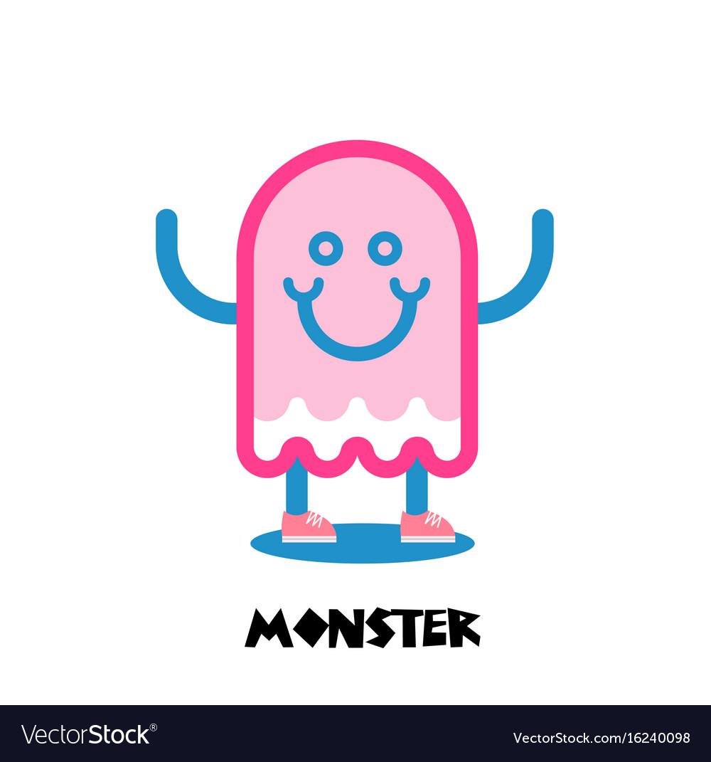 kids monster logo royalty free vector image vectorstock