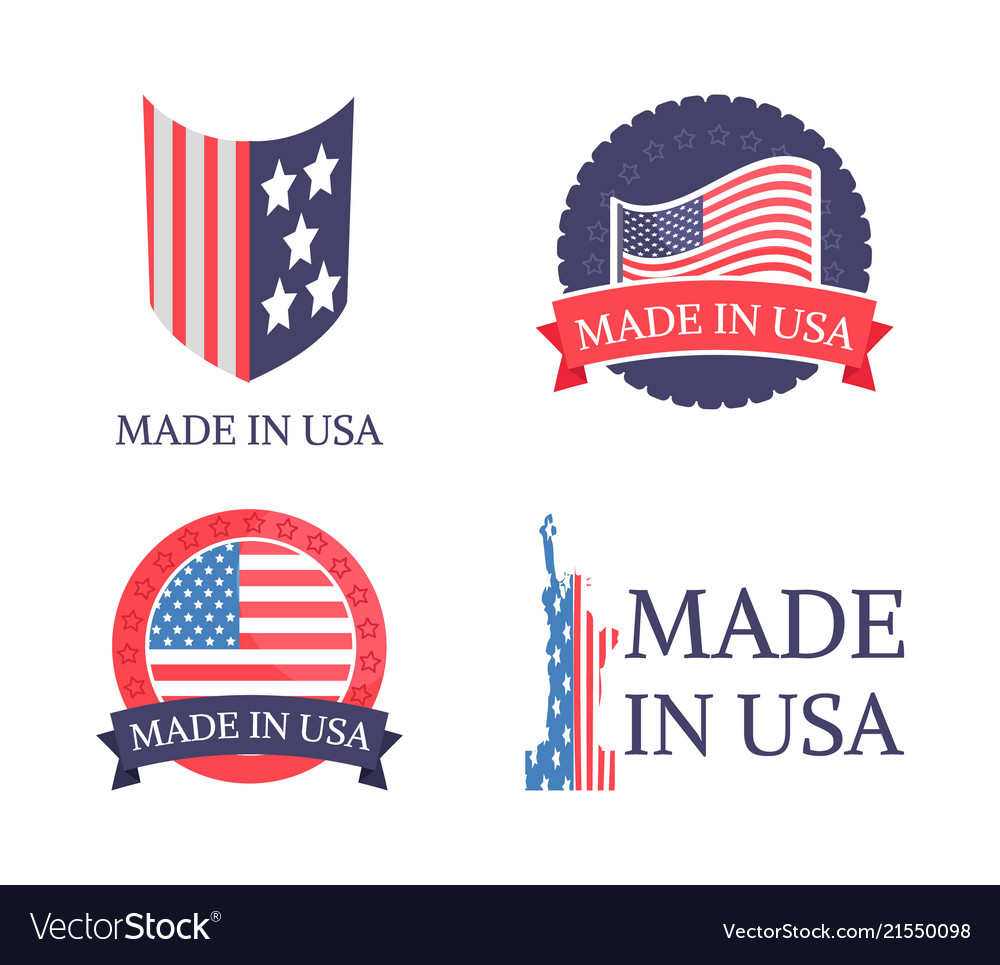 Made in usa sticker collection