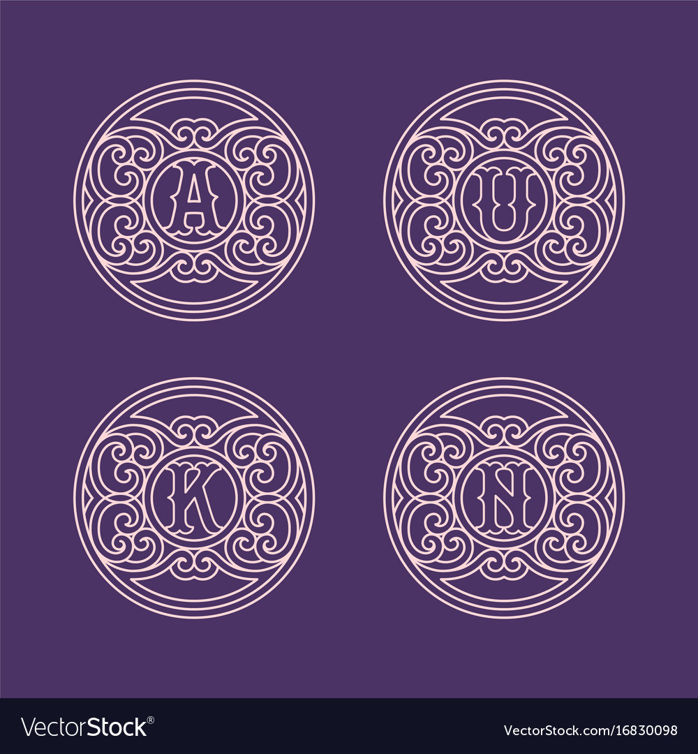 Set of monograms