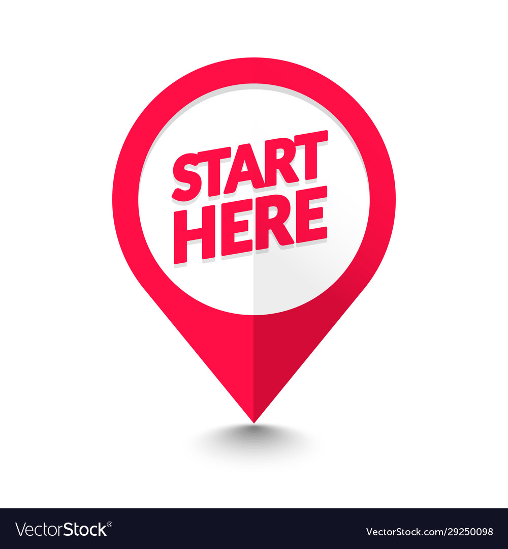 Start here map pointer icon gps location symbol