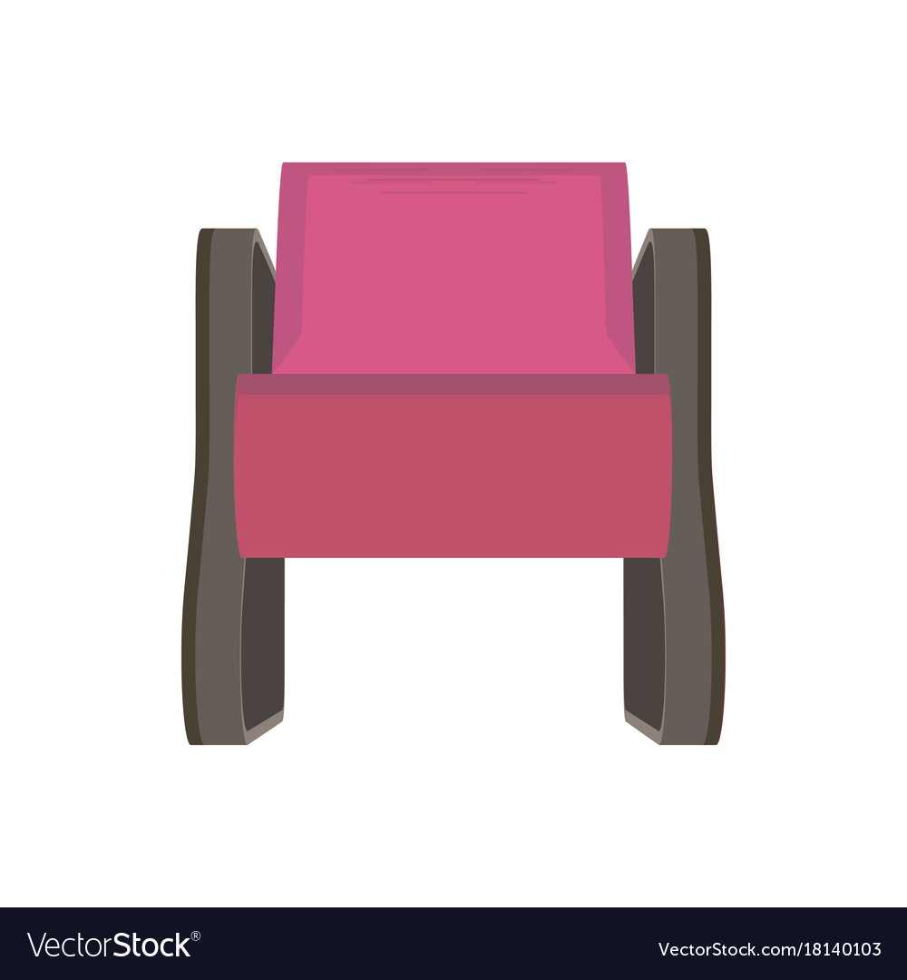 Armchair icon furniture flat isolated chair style