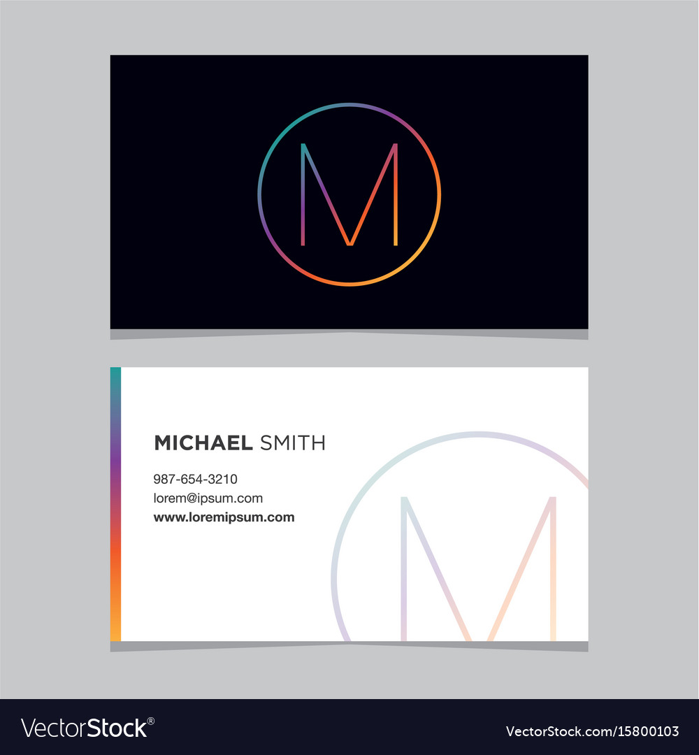 Business-card-letter-m