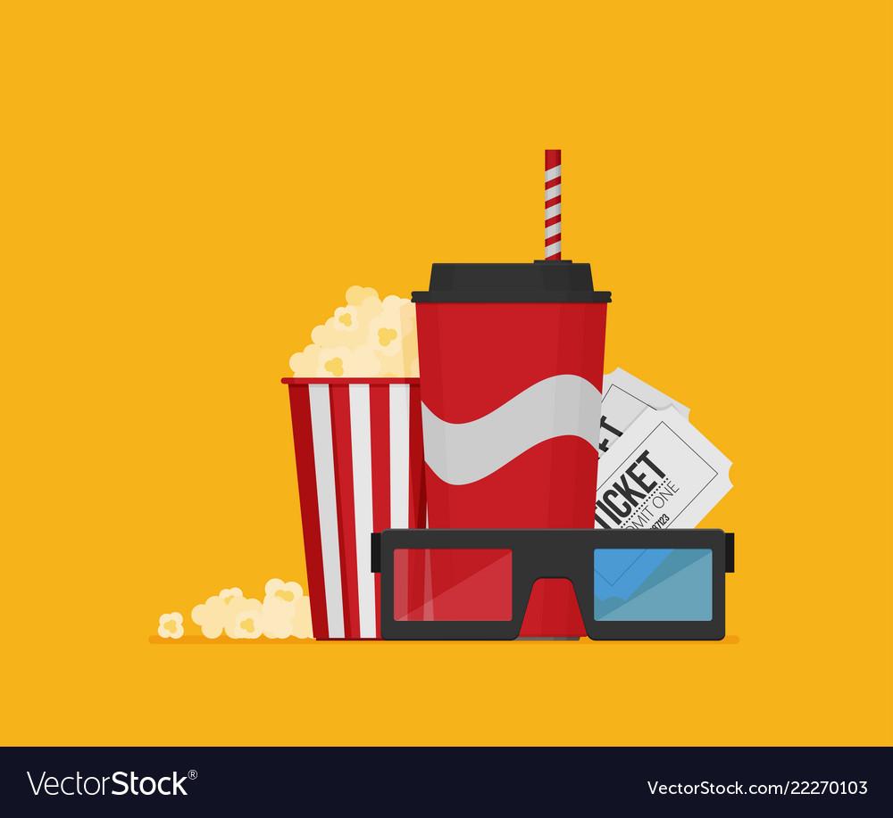Cinema design in flat style