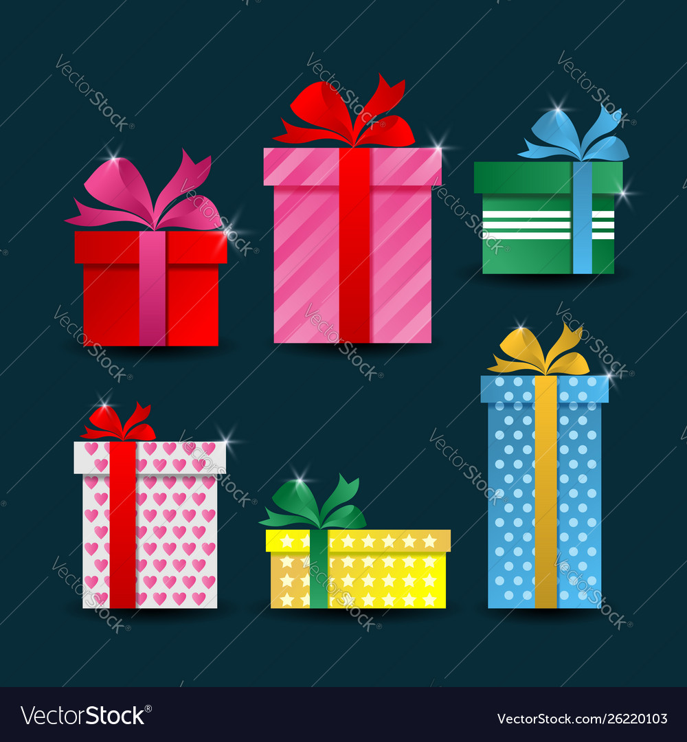 Colorful gift box collections