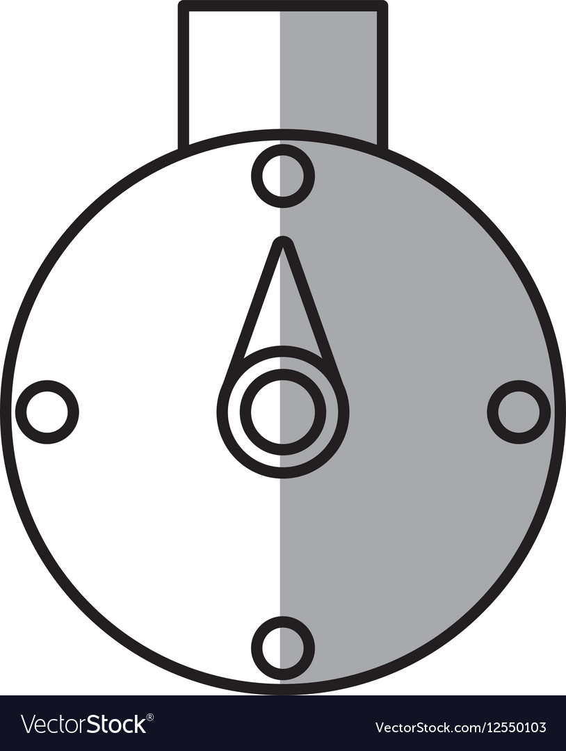 Compass location gps travel line shadow vector image