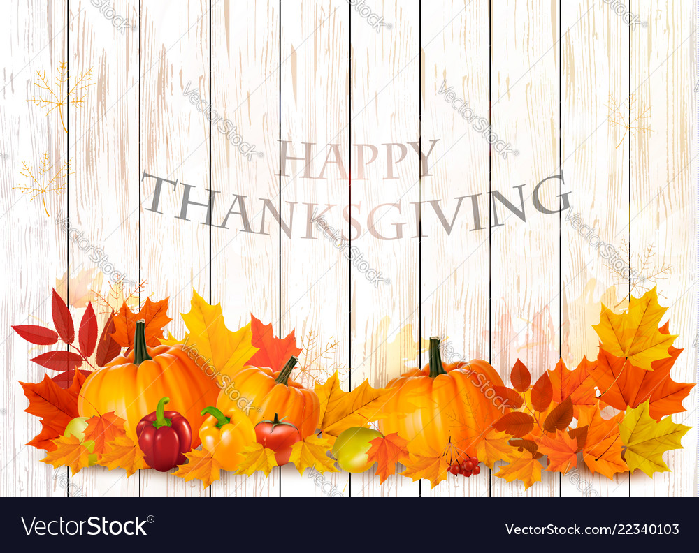 Happy thanksgiving background with colorful fruit