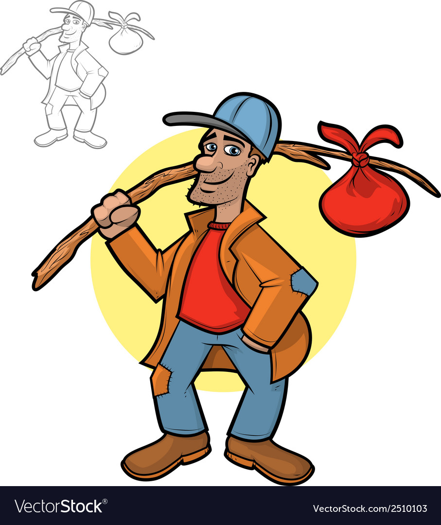 Hobo Cartoon vector image