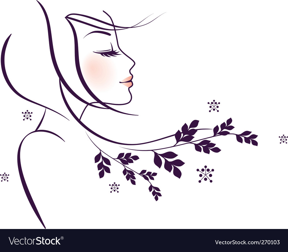 Woman floral