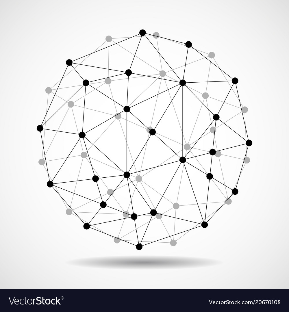 Abstract wireframe globe sphere network connect