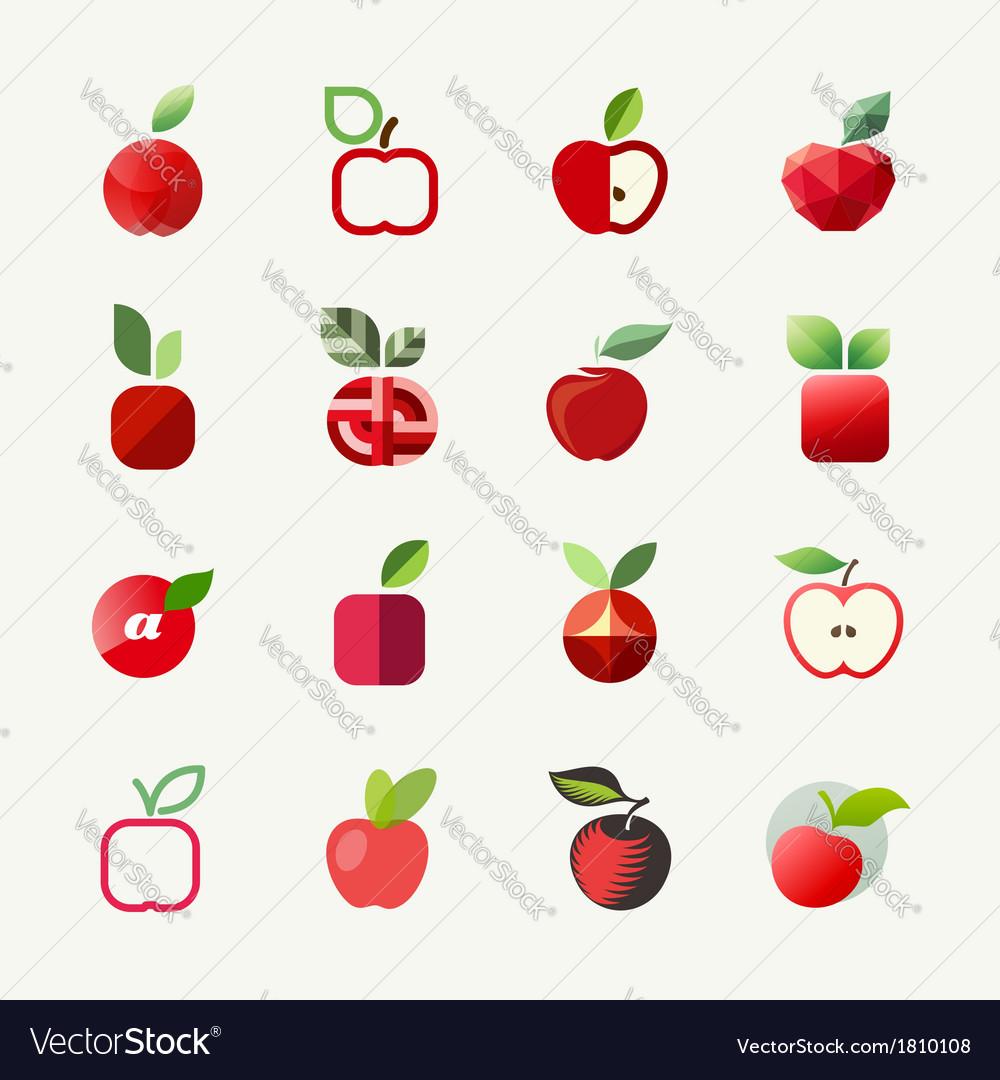 Apple logo templates set Elements for design