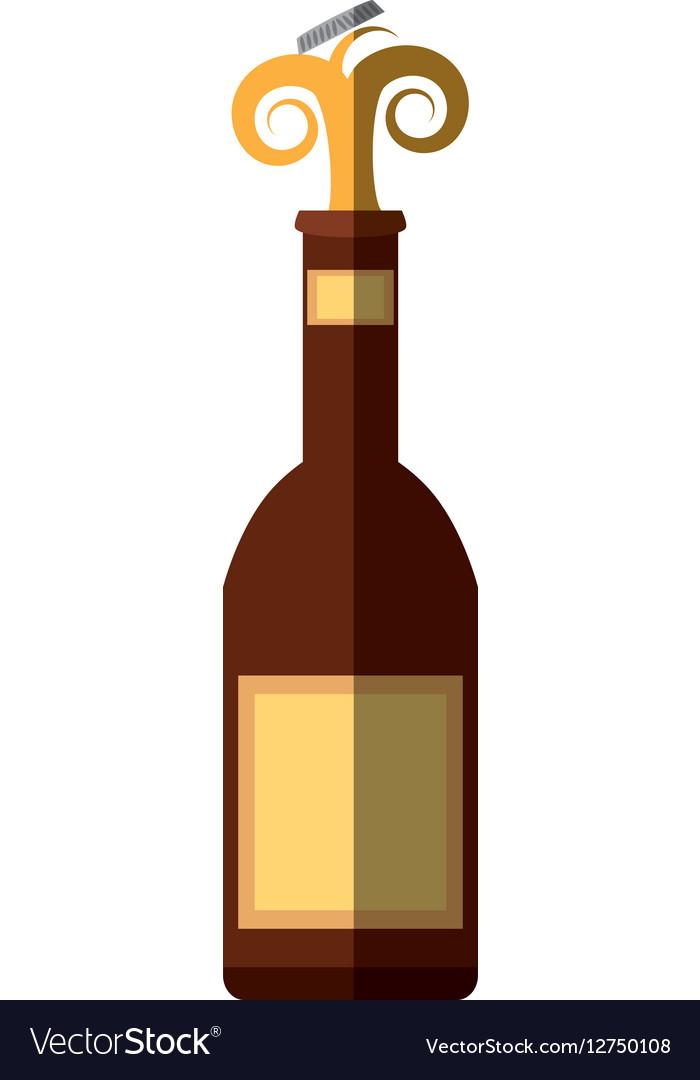Beer bottle drink cap splash shadow