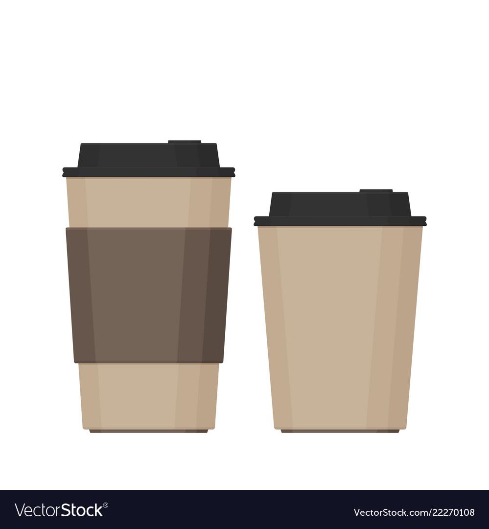 Coffee cup flat set