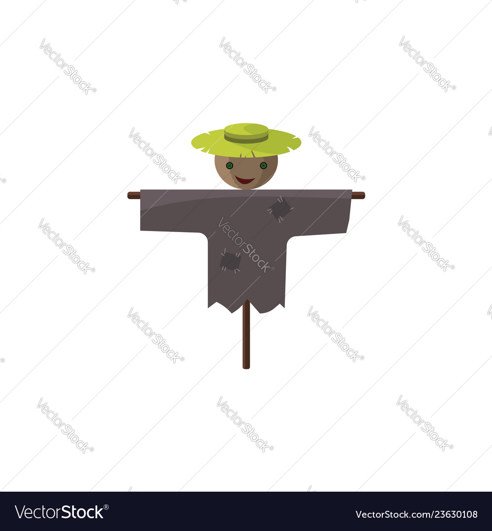 Color image scarecrow on a white background