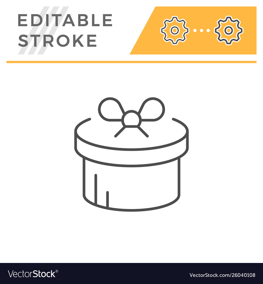 Gift editable stroke line icon