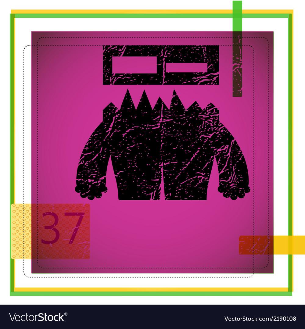 Monster on grunge background
