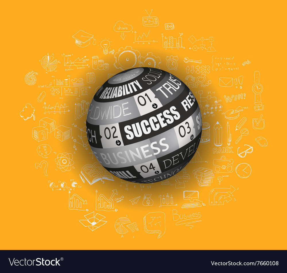 Success in Business Concept with Doodle design