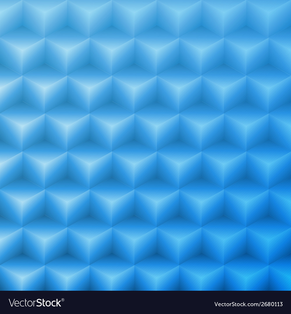 Abstract shape blue background made with isometric