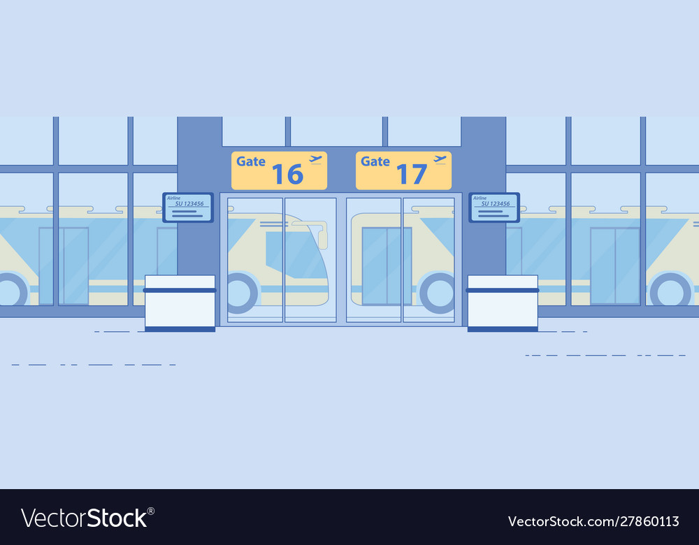 Airport airside bus transfer service flat