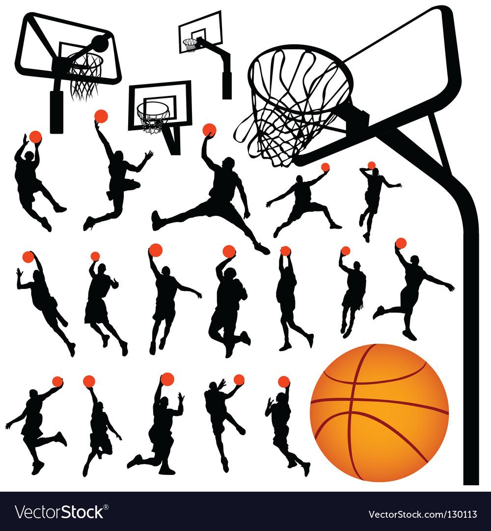 Basketball and backboard vector image