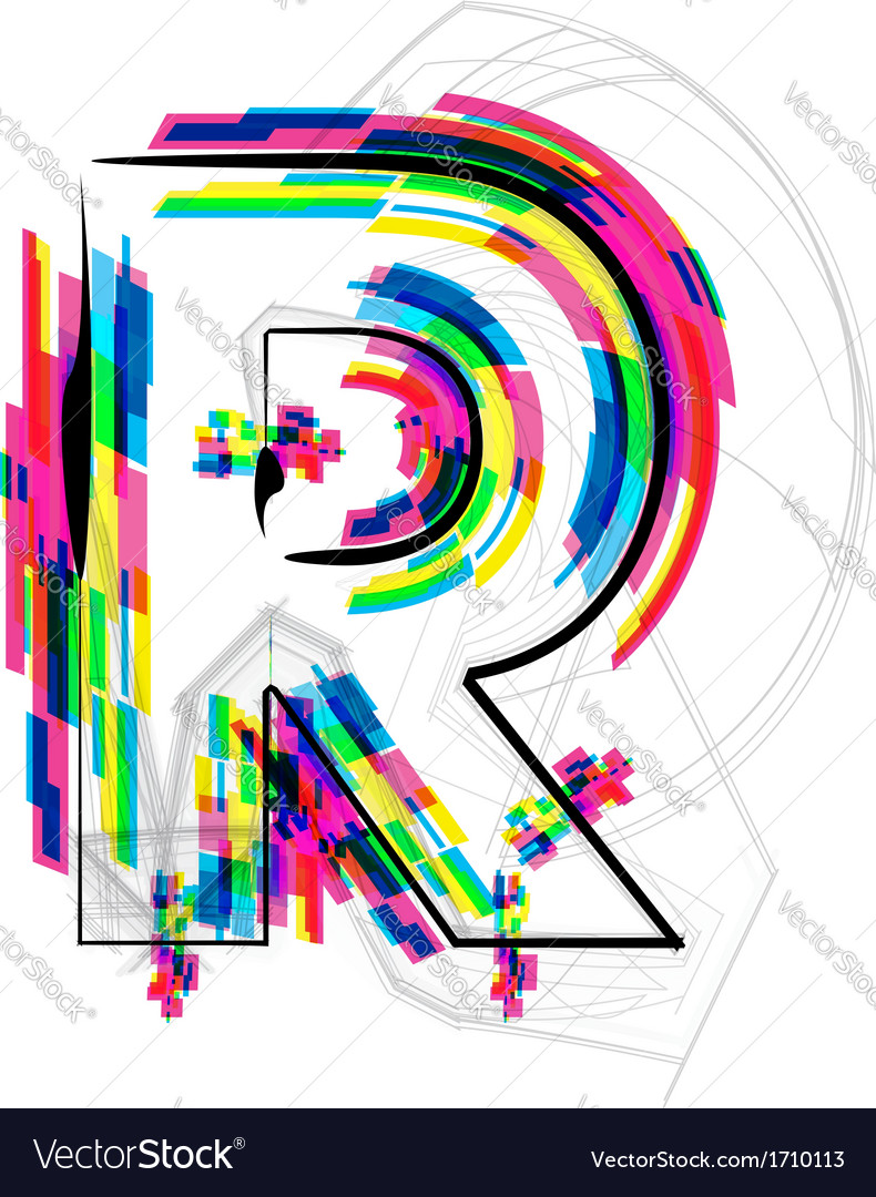 Colorful font letter r royalty free vector image colorful font letter r vector image altavistaventures Image collections