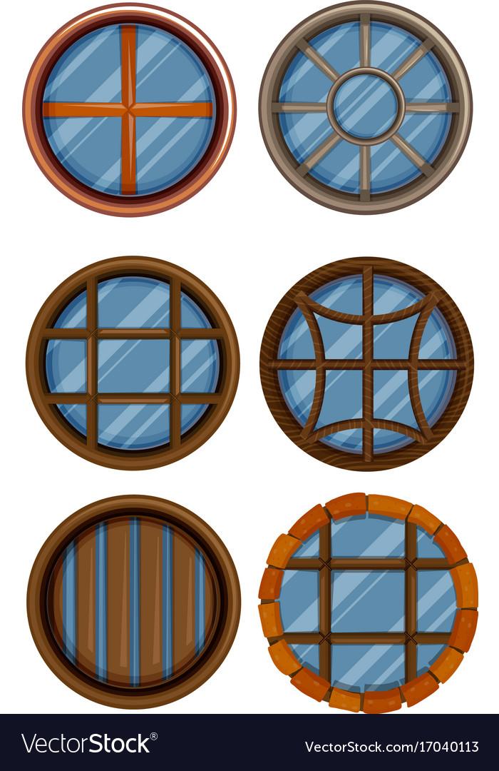 Different design of round window vector image