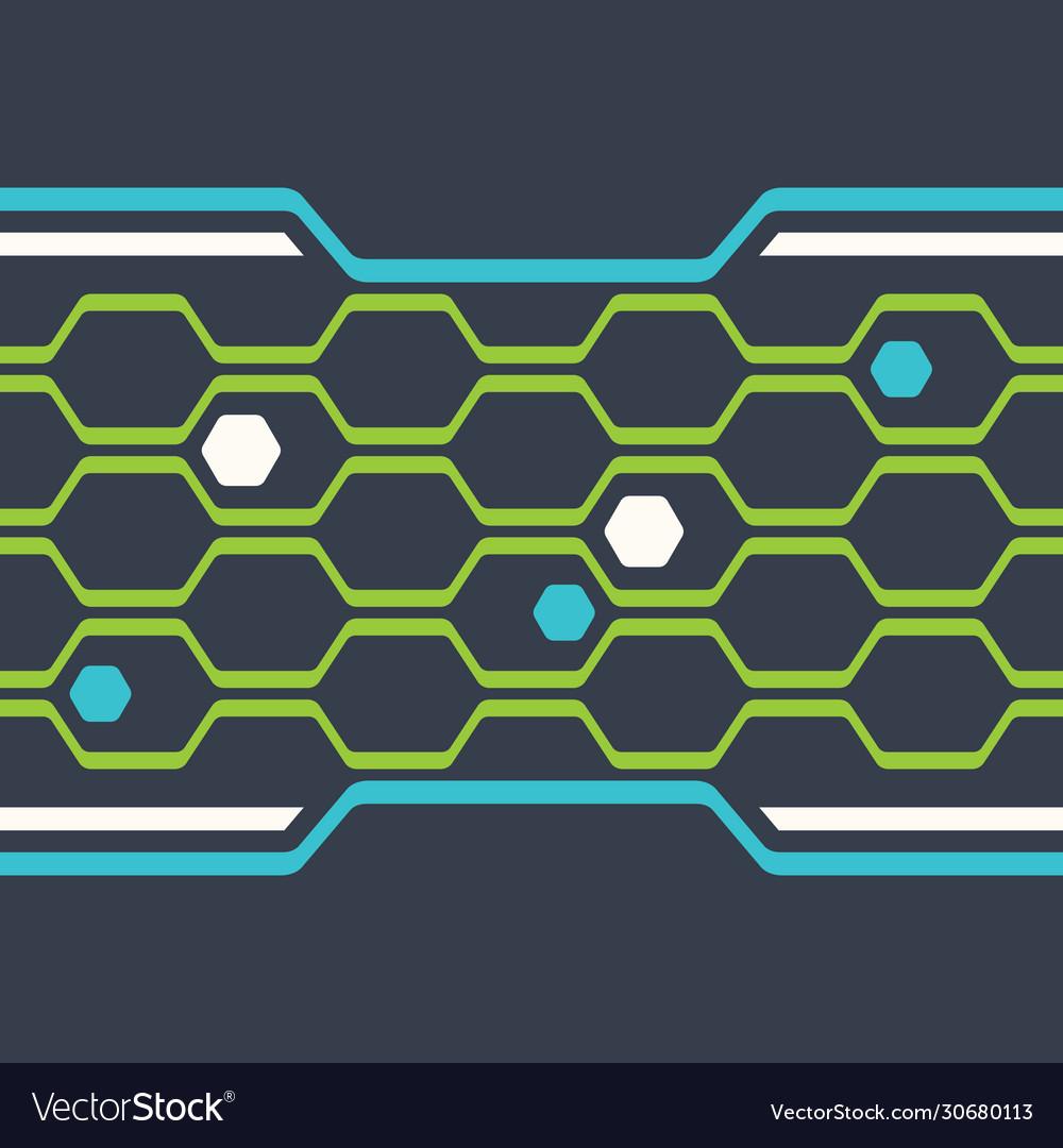 Digital honeycomb seamless pattern