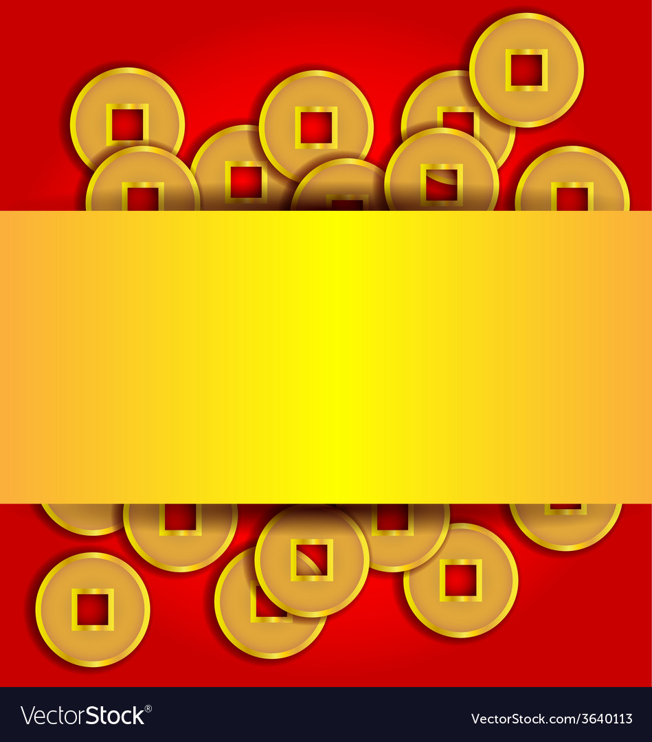 Gold coins abstract background for Chinese New