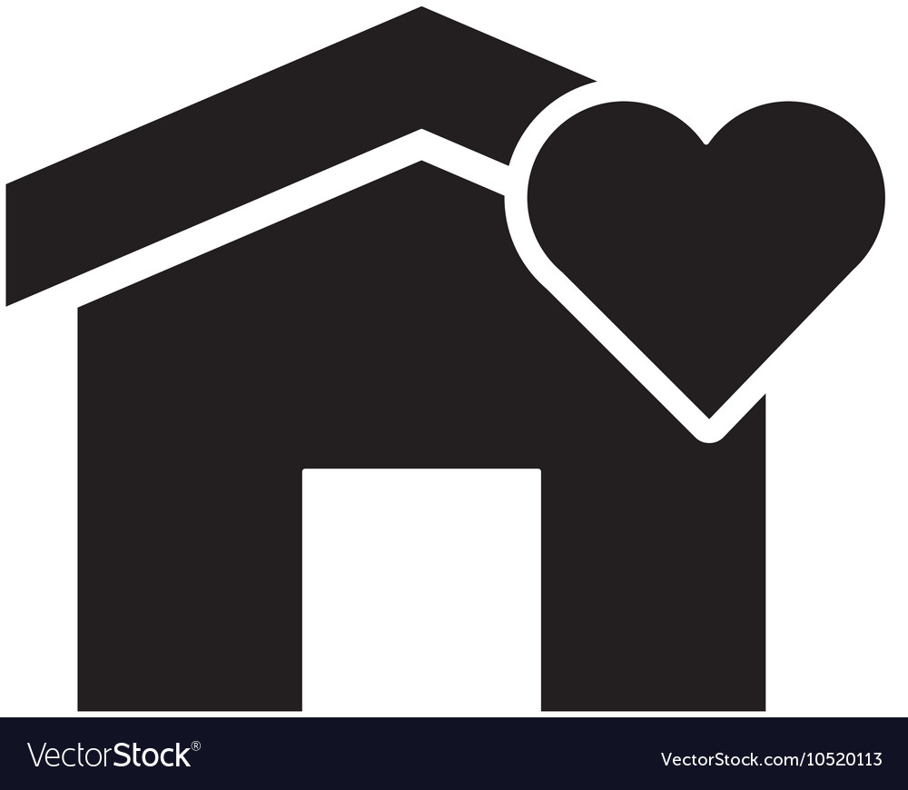 House and heart cartoon icon