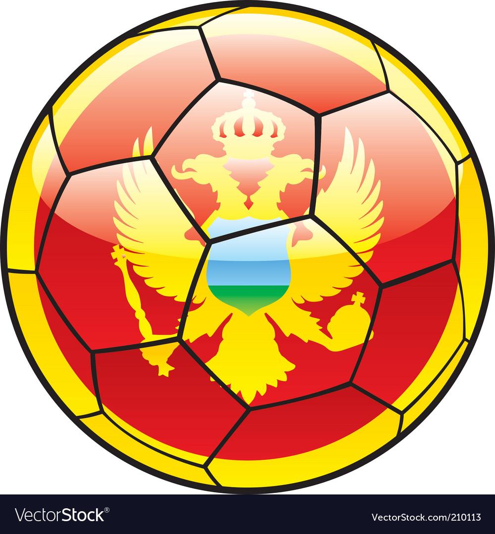 Montenegro flag on soccer ball