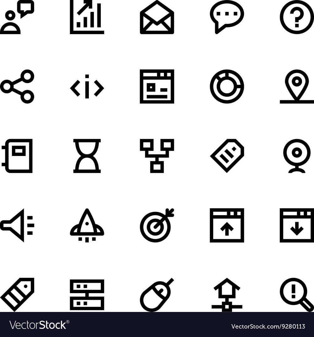 SEO Web Optimization Icons 3
