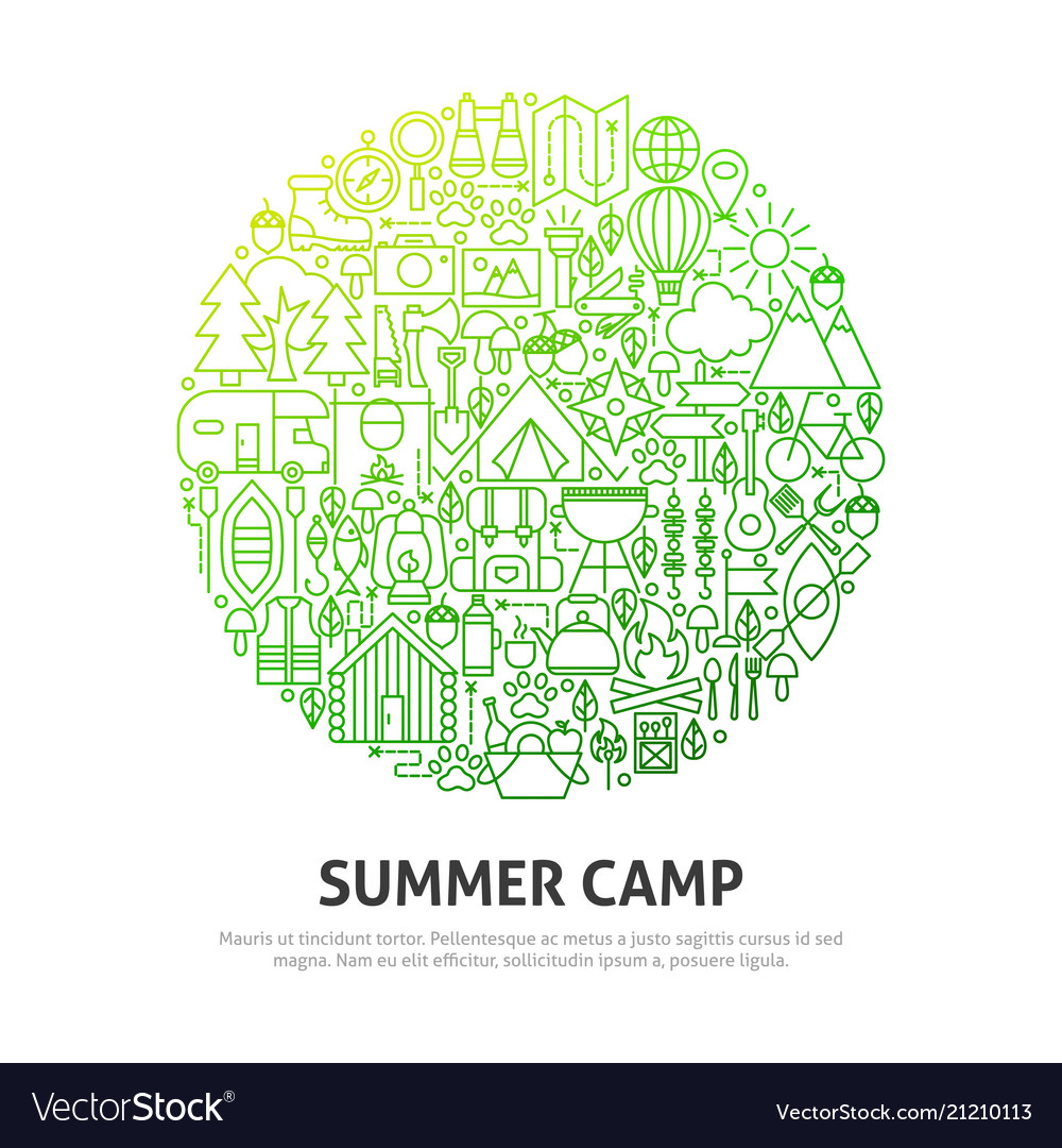 Summer camp circle concept