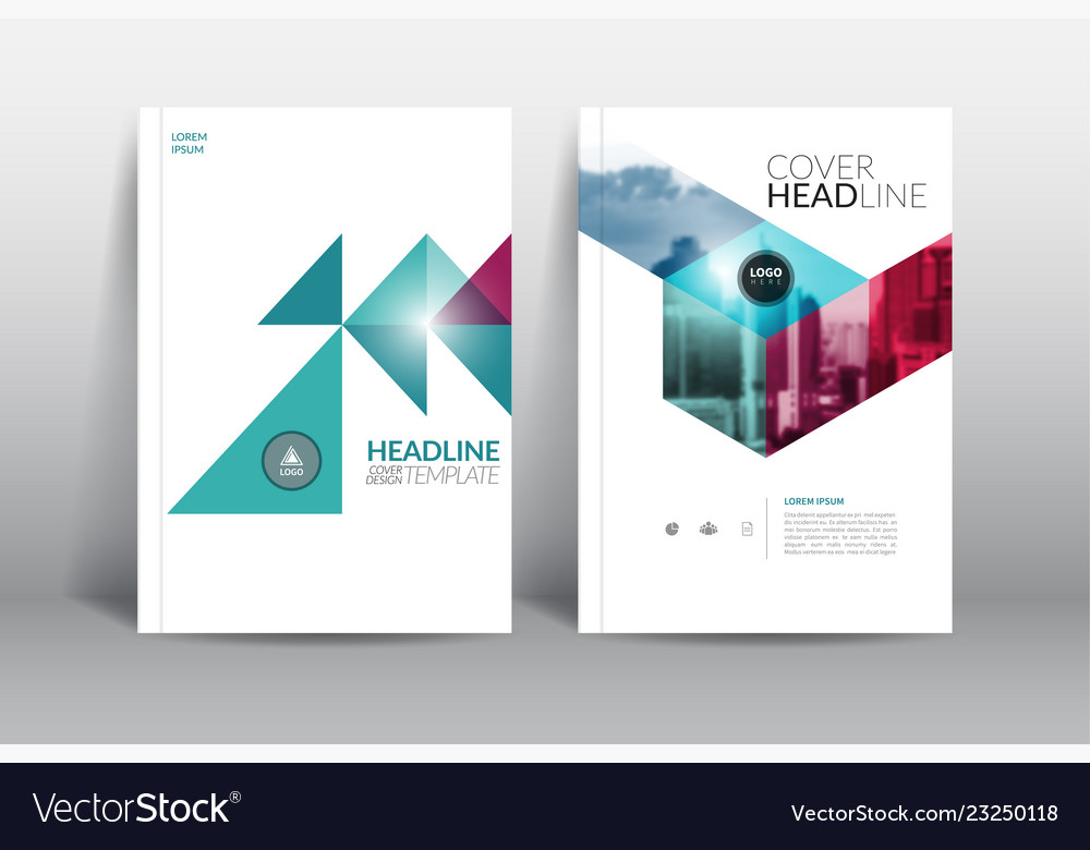 Annual report cover brochure flyer design template