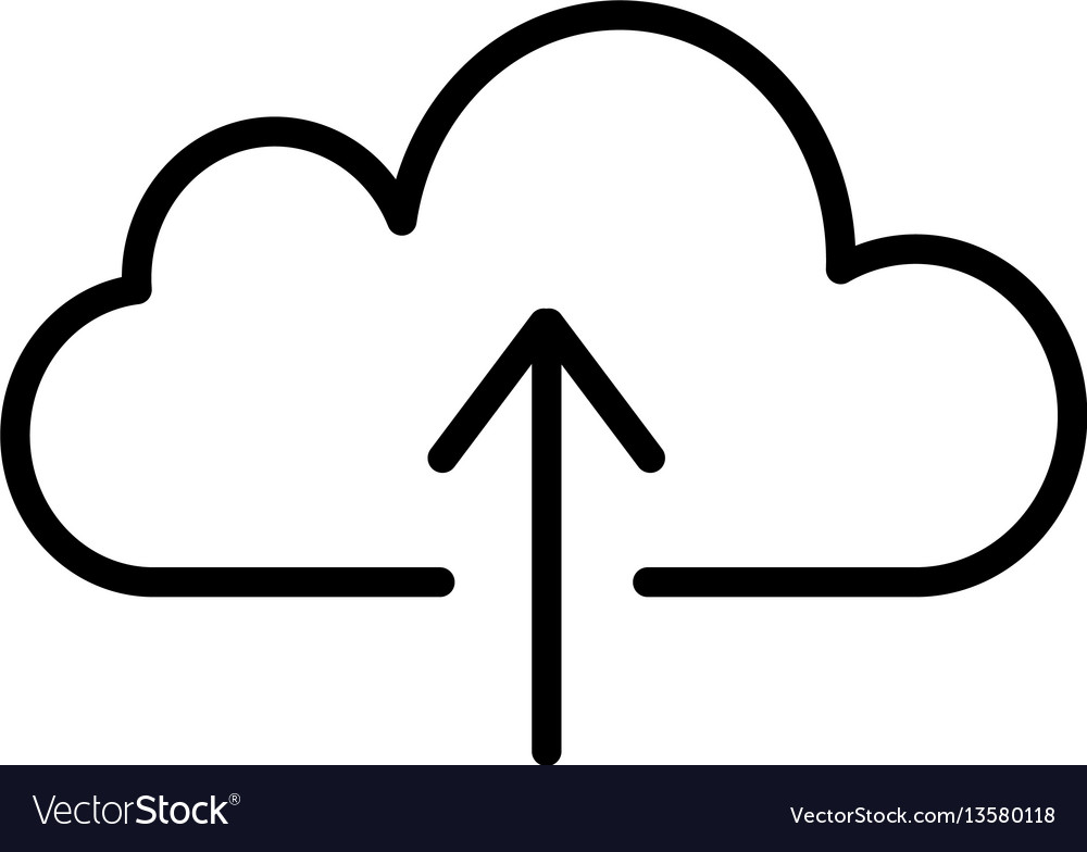 Cloud upload linear icon
