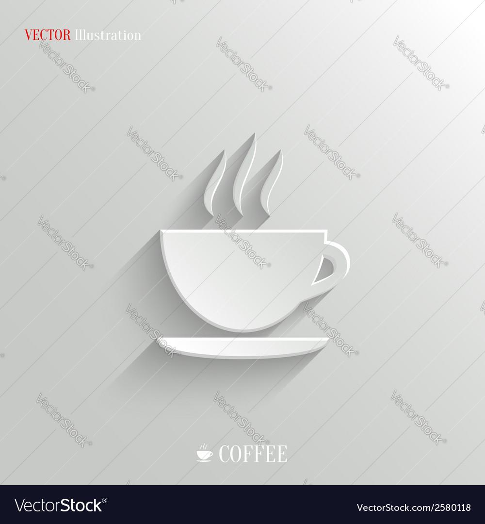 Coffee icon - white app button
