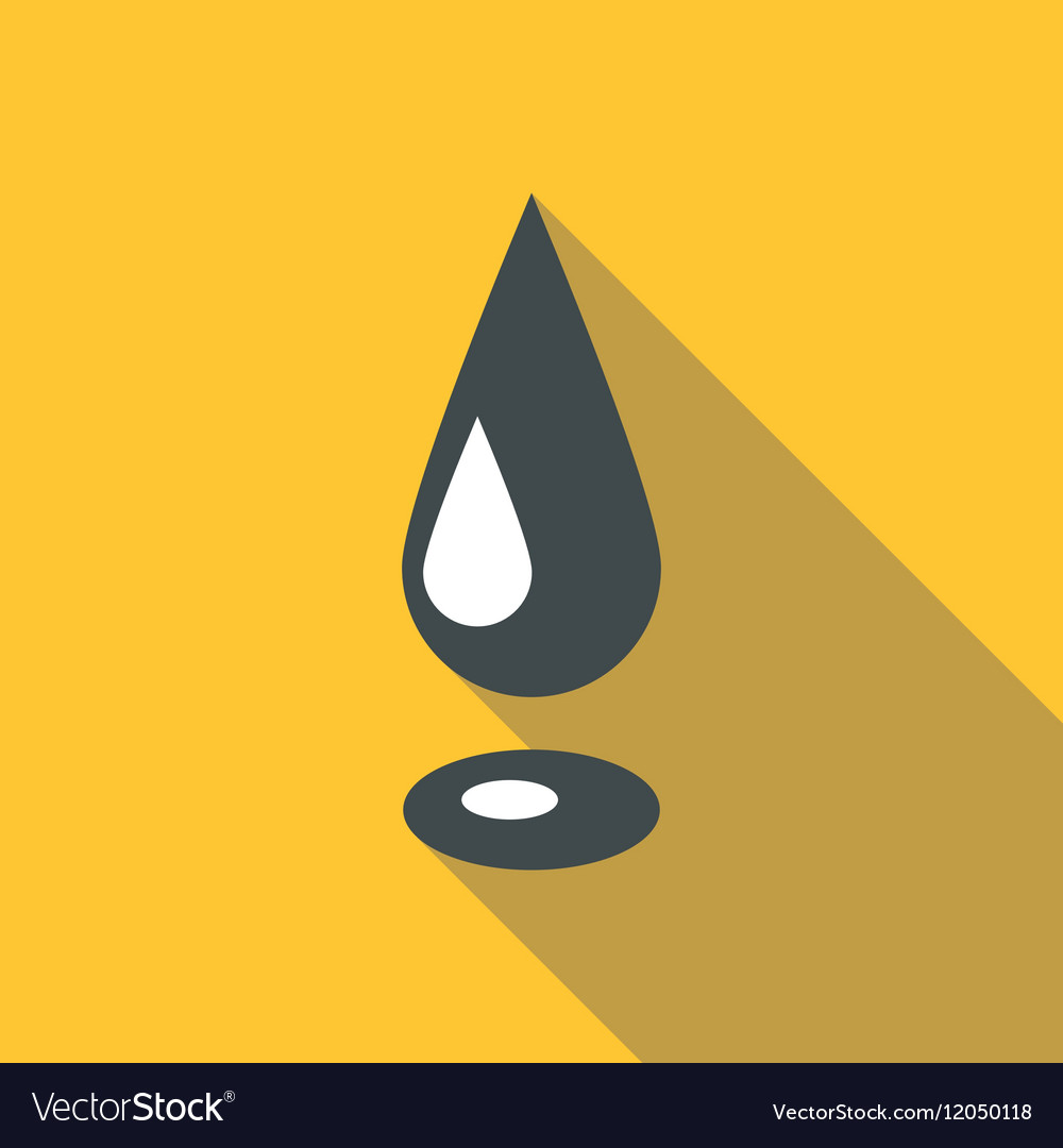 Drop oil icon flat style vector image