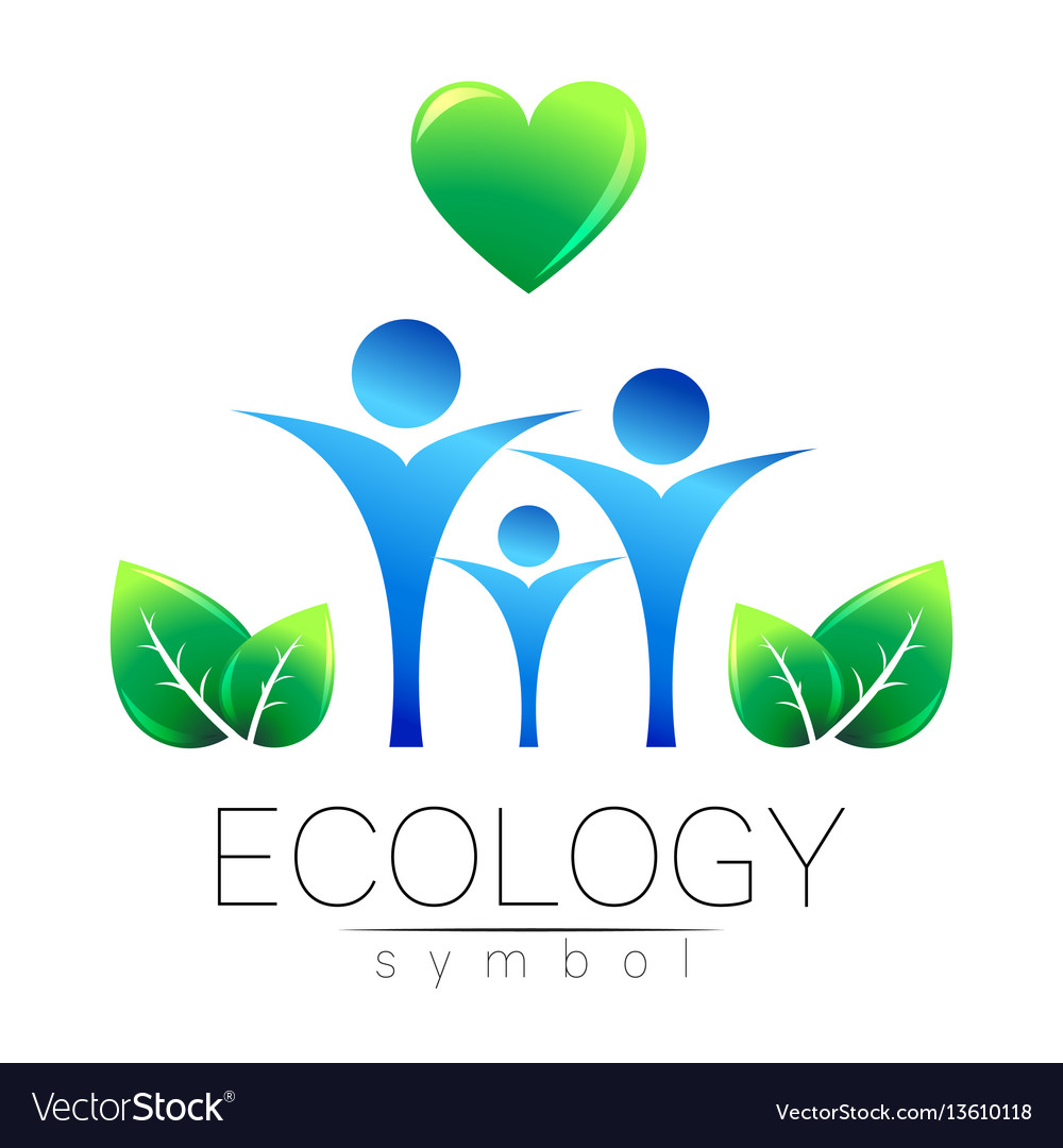 Ecology symbol sign with