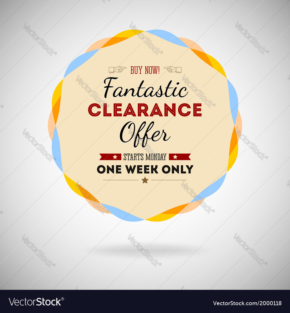 Fantastic clearance offer badge vintage style for