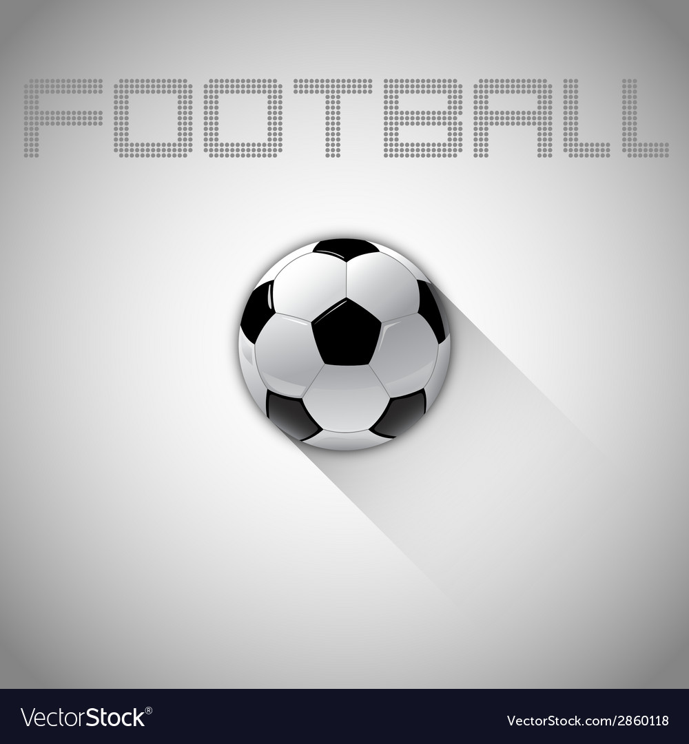 Football long shadow vector image