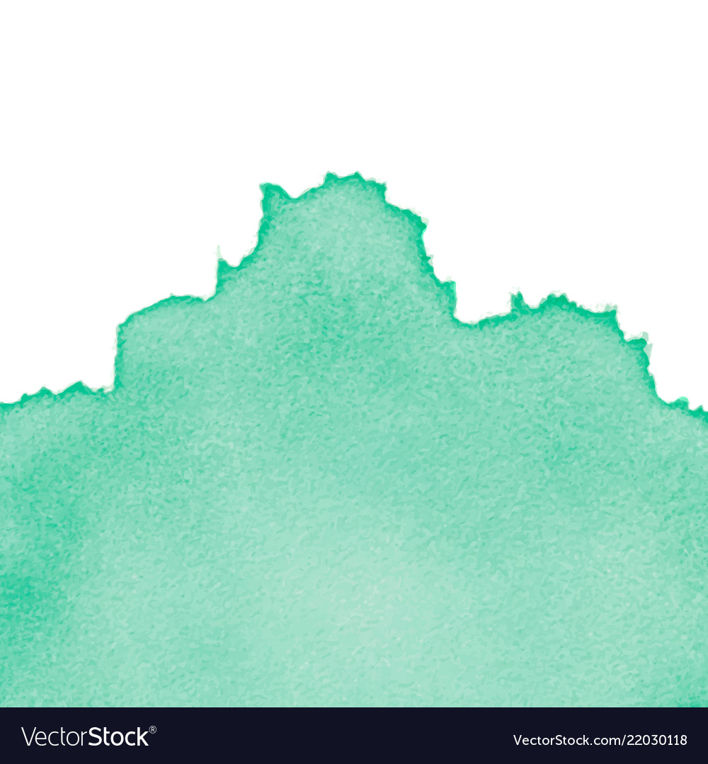 Green abstract watercolor isolated on white