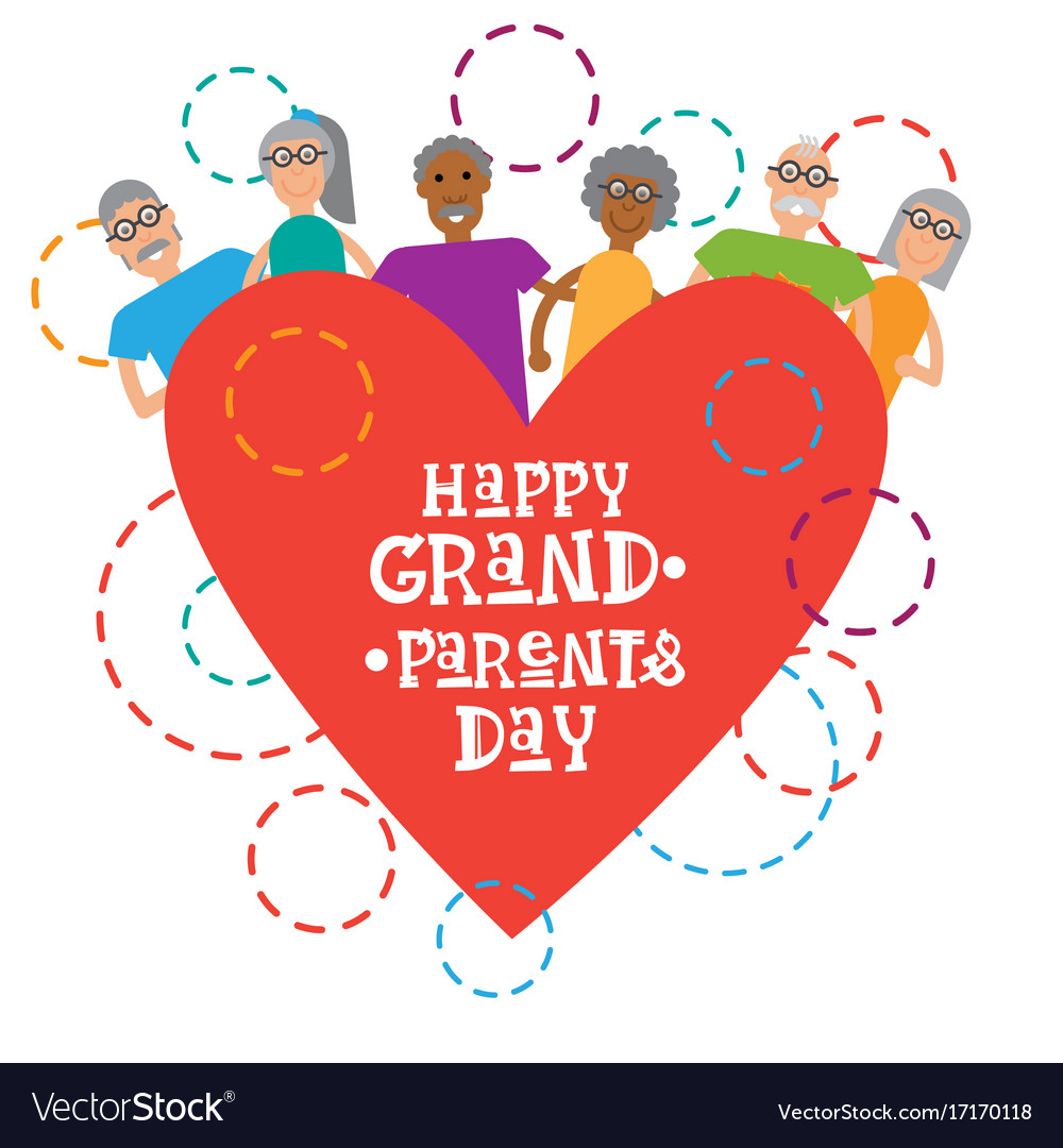 Happy grandparents day greeting card banner vector image m4hsunfo