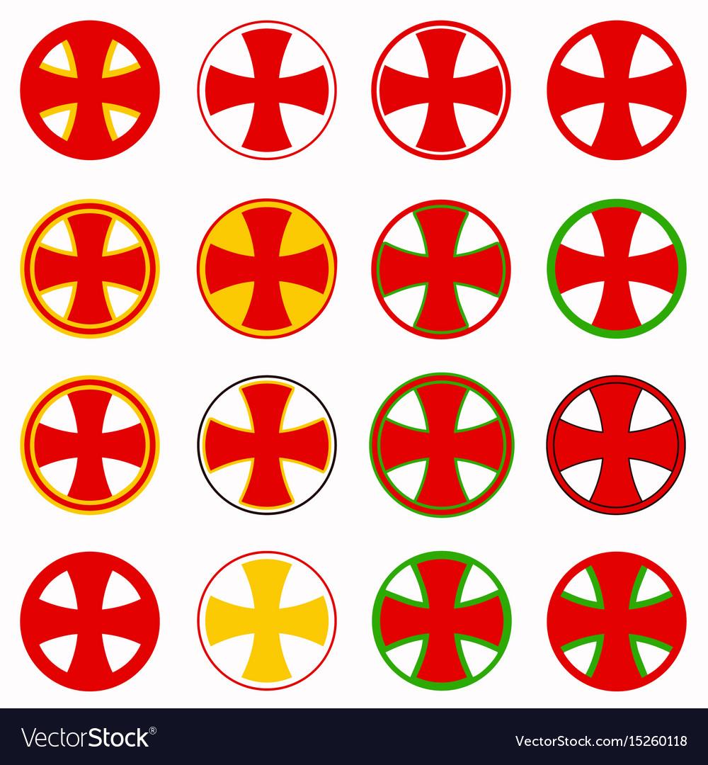 Red pharmacy cross set
