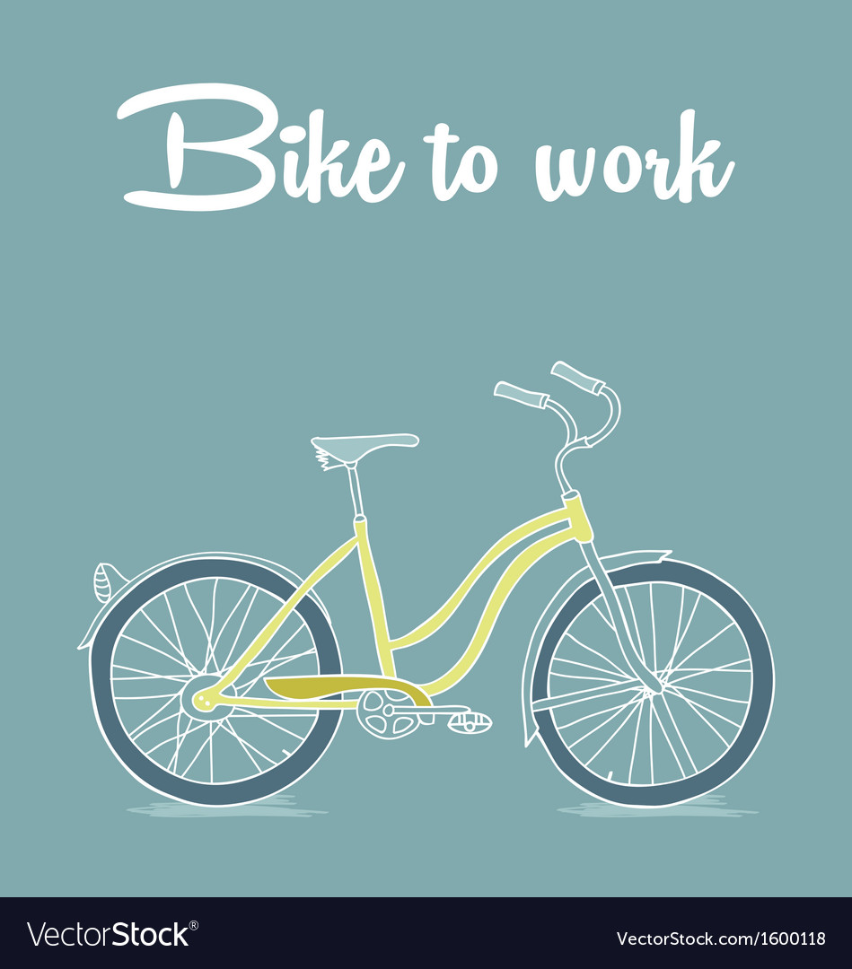 Retro poster with Bicycle