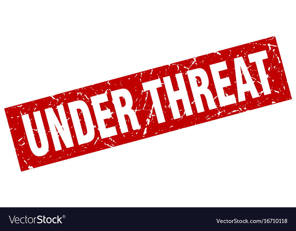 Square grunge red under threat stamp vector image