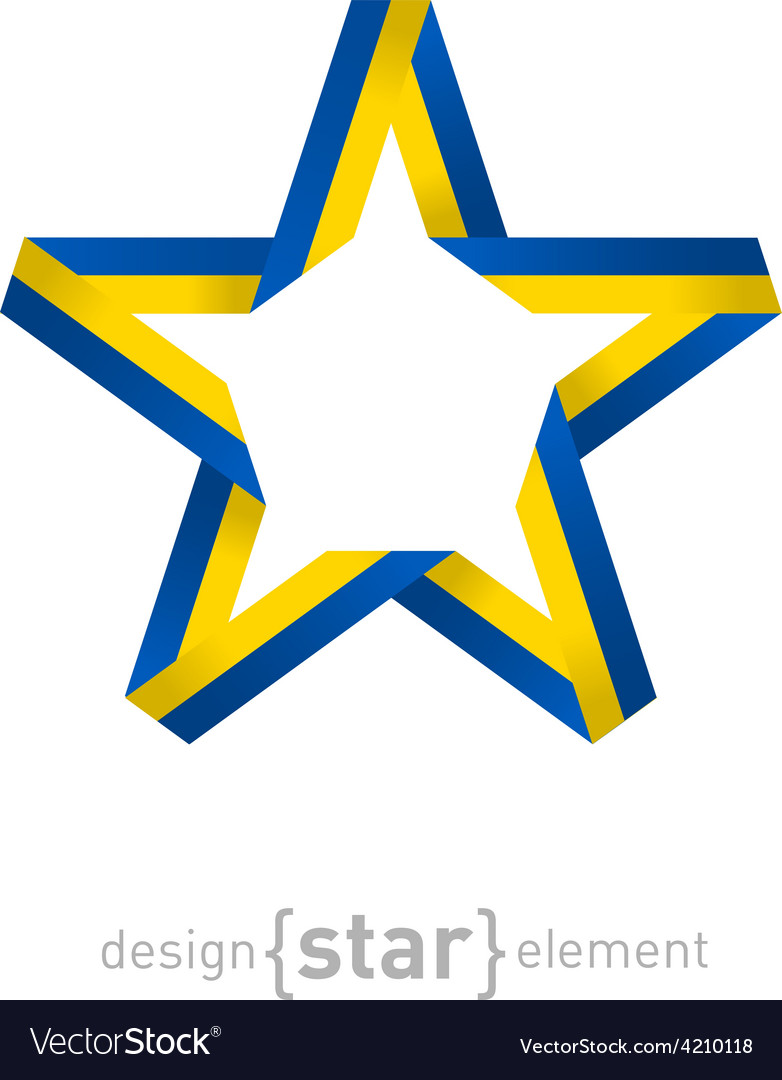 Star with Ukraine flag colors