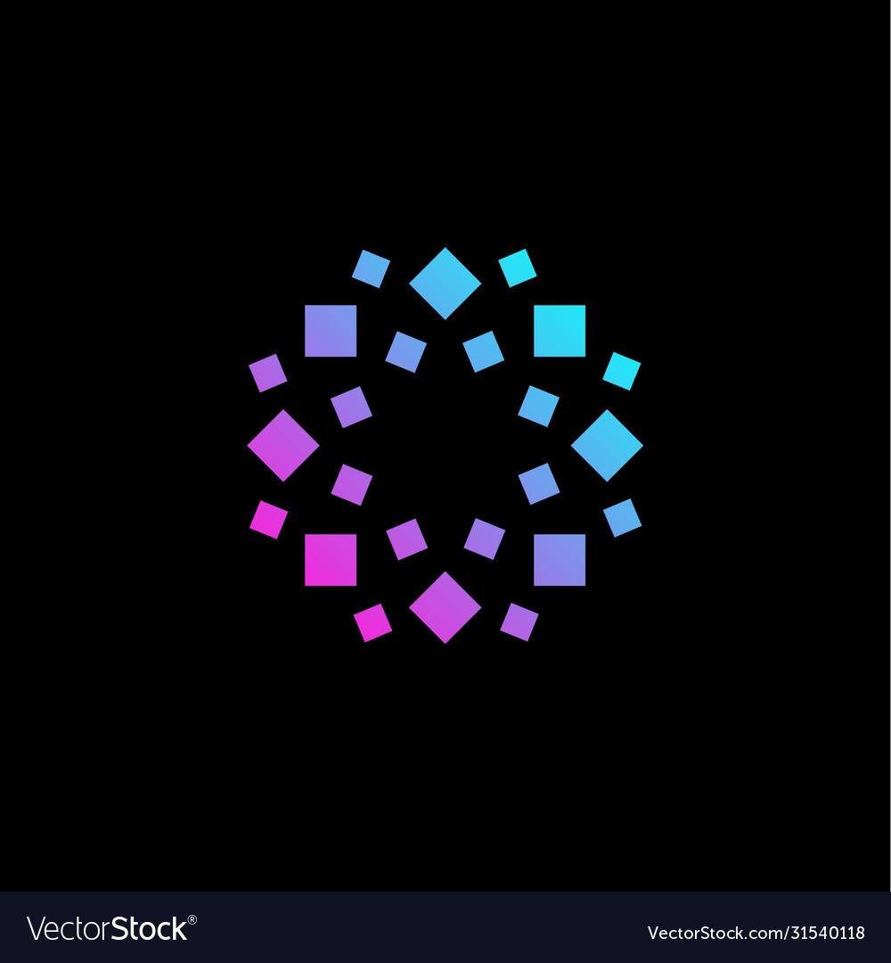 Stylized geometrical flower logo geometric floral